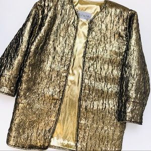 Vintage Rothschild San Francisco Metallic Coat
